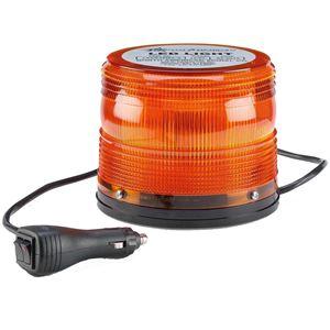 "Picture of 4.5"" Amber 12/24V High Power Multi-Pattern LED Warning Light w/ Magnet Mount"