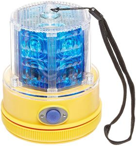 Picture of Blue LED Personal Safety Warning Light with Magnetic Mount, Battery Operated