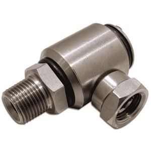 Picture of High Pressure 90° Swivel Stainless Steel 3/8 M x 3/8 F, 5000 PSI