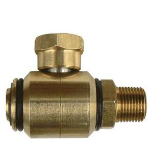 Picture of High Pressure 90° Swivel Brass 3/8 M x 3/8 F, 3000 PSI