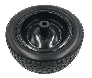 "Picture of 12"" Foam Filled Wheel Assembly 3/4"" Nylon Bushing, Black"