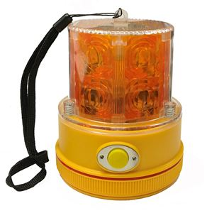 Picture of Amber LED Personal Safety Warning Light with Magnetic Mount, Battery Operated