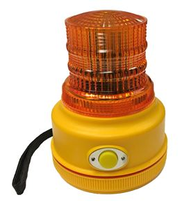 Picture of Amber LED 4-Function Personal Safety Warning Light w/Magnetic Mount, Battery Operated