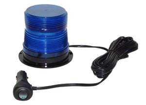 "Picture of 4"" Blue 12/24V High Power Quad-Flash Micro-Burst LED Warning Light w/ Magnet Mount"