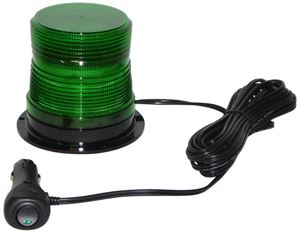 "Picture of 4"" Green 12/24V High Power Quad-Flash Micro-Burst LED Warning Light w/ Magnet Mount"