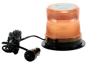 "Picture of 4"" Amber 12/24V High Power Single Flash Micro-Burst LED Warning Light w/ Magnet Mount"