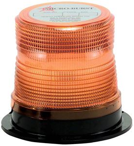 "Picture of 4"" Amber 12/48V Micro-Burst 360-Degree LED Non-Flashing Warning Light"