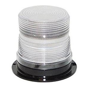 "Picture of 4"" Clear 12/24V High Power Class 1 Single Flash Micro-Burst LED Warning Light"