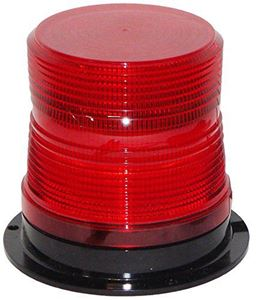 "Picture of 4"" Red 12/48V Micro-Burst 360-Degree LED Flashing Warning Light"