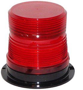 """Picture of 4"""" Red 12/48V Micro-Burst 360-Degree LED Flashing/Revolving Warning Light"""
