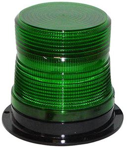 "Picture of 4"" Green 120V Micro-Burst 360-Degree LED Flashing Warning Light"
