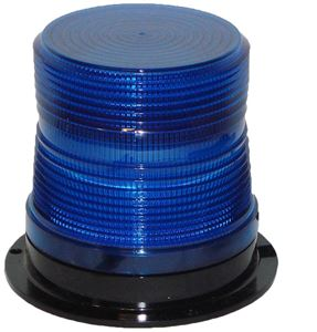 "Picture of 4"" Blue 120V Micro-Burst 360-Degree LED Non-Flashing Warning Light"