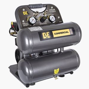 Picture of 4 Gallon Twin Tank Oil Free Air Compressor, 1HP, 120V, 2.8 CFM @ 90 PSI
