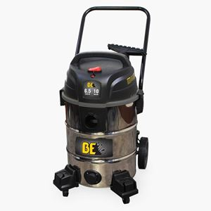 Picture of 10 Gallon Wet/Dry Stainless Steel Shop Vacuum 6.5 HP 100 CFM 2 Stage