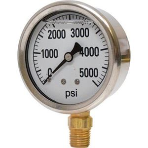 """Picture of 5,000 PSI Bottom Mount 2-1/2"""" SS Pressure Gauge"""