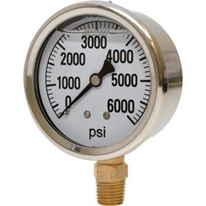 "Picture of 6,000 PSI Bottom Mount 2-1/2"" SS Pressure Gauge"
