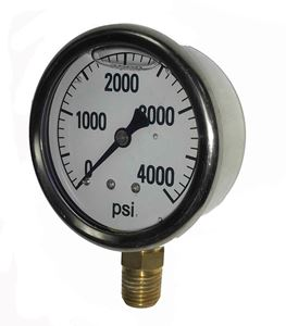 "Picture of 4,000 PSI Bottom Mount 2-1/2"" SS Pressure Gauge"