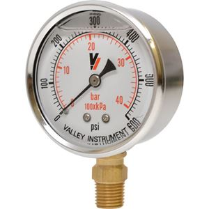 """Picture of 600 PSI Bottom Mount 2-1/2"""" SS Pressure Gauge"""