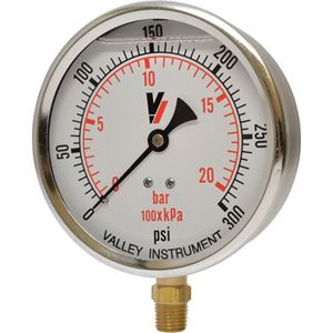 "Picture of 300 PSI Bottom Mount 4"" SS Pressure Gauge"