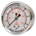 "Picture of 15 PSI Back Mount 2-1/2"" SS Pressure Gauge"