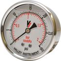 "Picture of 30 PSI Back Mount 2-1/2"" SS Pressure Gauge"