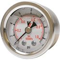 "Picture of 15 PSI Back Mount 1-1/2"" SS Pressure Gauge"