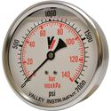 "Picture of 2,000 PSI Back Mount 4"" SS Pressure Gauge"
