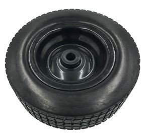 "Picture of 10"" Foam Filled Wheel Assembly 3/4"" Nylon Bushing, Black"