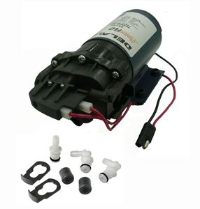 "Picture of Delavan Diaphragm Flex Pump 12 V, 60 PSI, 2.2 GPM, 3/4"" QA Ports, Fittings I-Series"