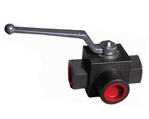 "Picture of 1"" FPT High Pressure 3-Way Ball Valve 5,000 PSI"