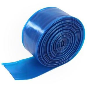 "Picture of 1-1/2"" x 25' Haviland Transparent Blue Pool Backwash Hose"
