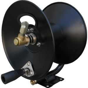 """Picture of 3/8"""" x 100' Steel Hose Reel with Mounting Base 4,000 PSI 185° F"""