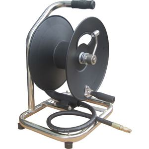 """Picture of 3/8"""" x 100' Industrial Hose Reel On Base with Carry Handle 5,000 PSI"""