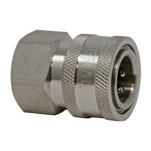 Picture of QD Socket, SS 1/4 x 1/4 NPT-F 6,000 PSI
