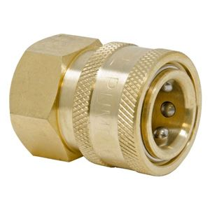 Picture of QD Socket, Brass 1/4 x 1/4 NPT-F 5,000 PSI