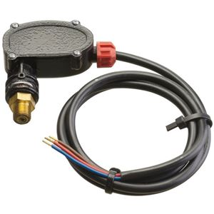 """Picture of PS6 4,060 PSI Pressure Switch, 363 Activation (Red), 1/4"""" M Brass"""