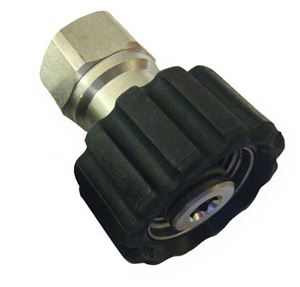 "Picture of Suttner ST-40 SS Screw Coupler, 3/8"" FPT x M22-14MM 7,250 PSI"