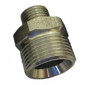 """Picture of Suttner ST-41 SS Screw Nipple, 1/4"""" MPT x M22-14MM 5,800 PSI"""
