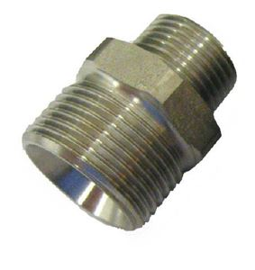 "Picture of Suttner ST-41 SS Screw Nipple, 3/8"" MPT x M22-14MM 5,800 PSI"