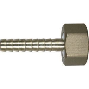 "Picture of FGHT X 1/2 HB X 2"" Brass Male Hose Barb Swivel"