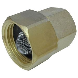 "Picture of General Pump 3/4 FGH x 1/2"" NPT-F Garden Hose Swivel Fitting with Screen"