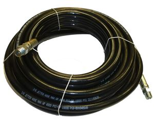 """Picture of 3/8"""" x 50' Sewer Jetter Hose 4,000 PSI Black"""