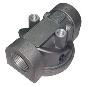 """Picture of Aluminum Hydraulic Oil Filter Holder 3/4"""" NPT"""