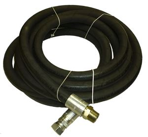 """Picture of 3/4"""" x 20' Sewer Jetter Leader Hose 3,117 PSI R2 Black (SOLxFSWV)"""
