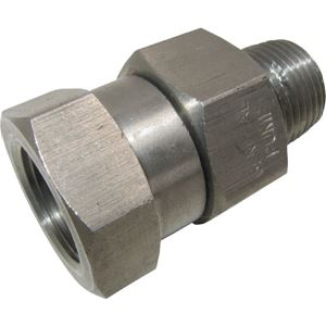 """Picture of GP High Pressure Stainless Steel Swivel 3/8"""" M x 3/8"""" F 5,000 PSI"""