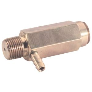"""Picture of Safety Relief Valve 6,000 PSI, 1/2"""" MPT. 1/4"""" Hose Barb"""