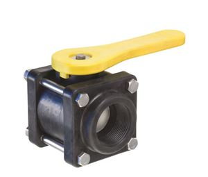"Picture of 1-1/2"" Polypropylene Ball Valve 4-Bolt Design"