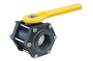 "Picture of 2"" Polypropylene Ball Valve 6-Bolt Design"