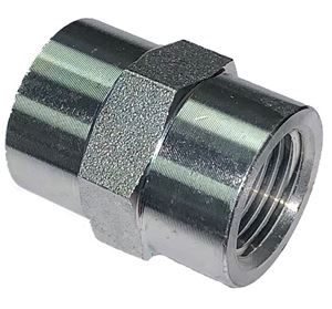 Picture of 3/8 FPT x 3/8 FPT Hex Coupling Steel