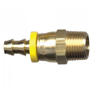 Picture of 3/8 ID x 3/8 Male Pipe Brass Working Swivel Grip-Tite Fitting